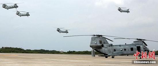 驻日美军又出事 2架直升机在鹿儿岛紧急着陆