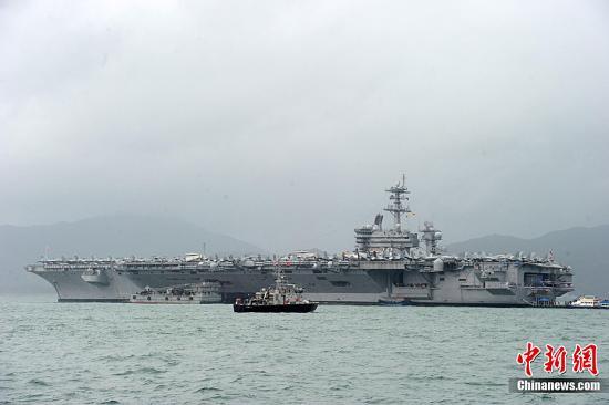 美国海军卡尔文森号航空母舰 资料图。发 郑祚声 摄