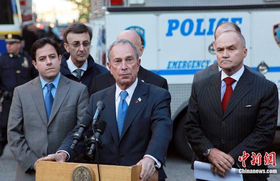 资料图:美国前纽约市长、亿万富翁布隆伯格。/p中新社发 孙宇挺 摄
