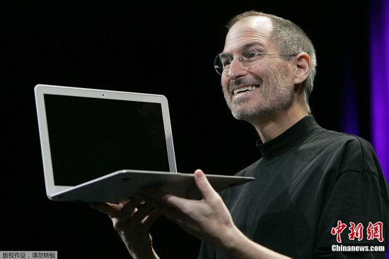 资料图片:苹果公司创始人史蒂夫・乔布斯。