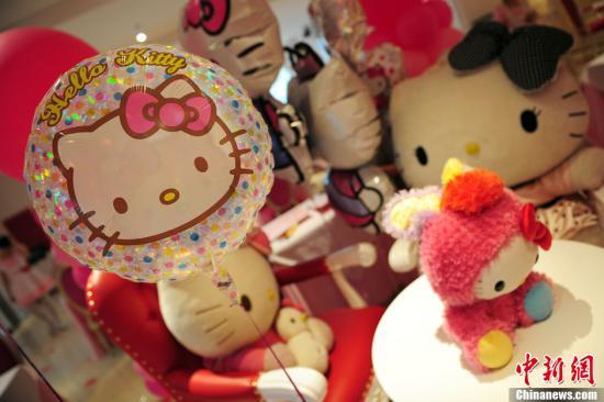资料图:Hello Kitty形象的玩具