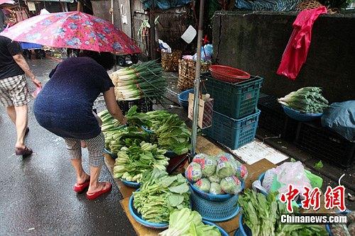 资料图片:菜市场。