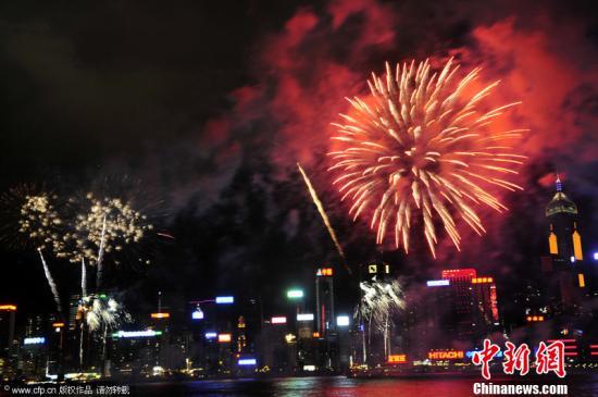 资料图:香港维多利亚港。袁水灵 摄 图片来源:CFP视觉中国