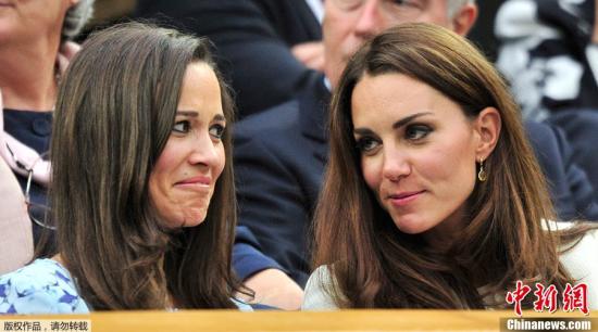 凯特王妃妹妹将出嫁 小公主当伴娘小王子当花童