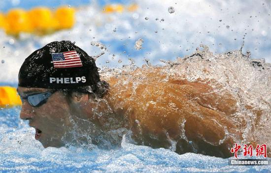 资料图:菲尔普斯在伦敦奥运会上参赛。图片来源:Osport全体育图片社
