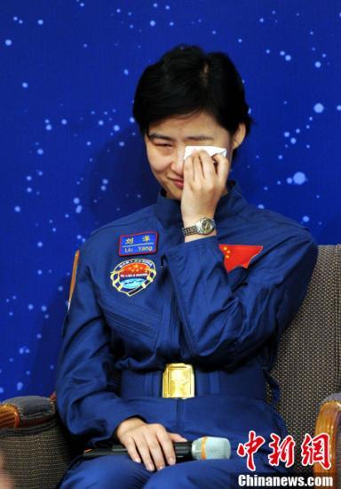 资料图:中国首位女航天员刘洋。中新社发 谭达明 摄