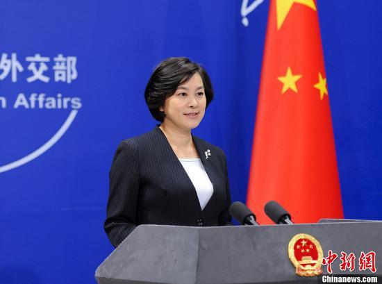 外交部发言人华春莹。中新社发 刘震 摄
