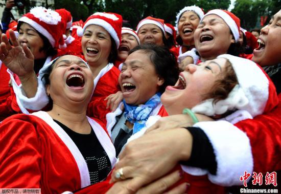 资料图:大笑已经被证明有益于身体健康。