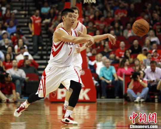 资料图,林书豪曾在火箭效力两个赛季。<a target='_blank' href='http://www.chinanews.com/'>中新社</a>发 贾忠 摄