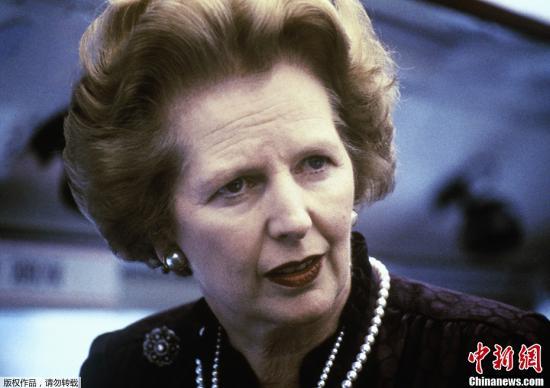 """英国""""铁娘子""""、前首相撒切尔夫人。"""