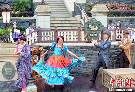 资料图:香港迪士尼乐园。中xin社发 任海霞 摄
