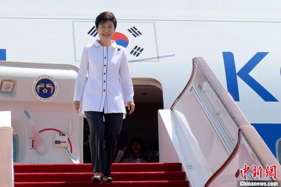 资料图:朴槿惠。<a target='_blank' href='http://www.chinanews.com/'>中新社</a>发 侯宇 摄