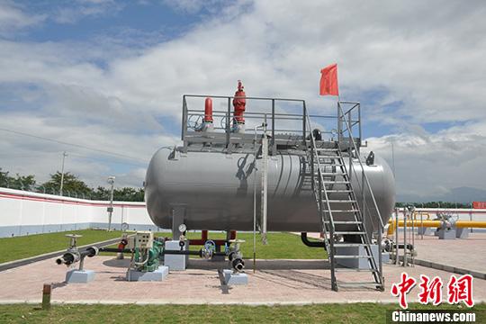资料图片,油气管道排污设施。<a target='_blank' href='http://www.chinanews.com/'>中新社</a>发 杨雪梅 摄