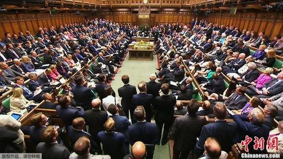 资料图:英国国会。(视频截图)