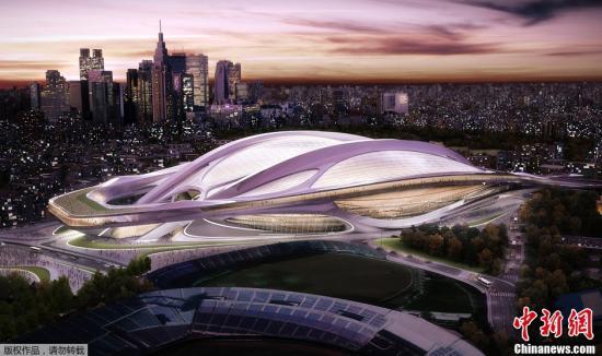 资料图:2013年9月9日,2020年东京奥运会和残奥会筹备委员会公布了作为东京奥运会主会场的新国立竞技场的概念图。国际奥委会全会当地时间9月7日在阿根廷首都布宜诺斯艾利斯投票选出2020年夏季奥运会的主办城?#23567;?#26085;本东京最终击败西班牙马德里和土耳其?#20102;固共?#23572;,获得2020年夏季奥运会举办权。
