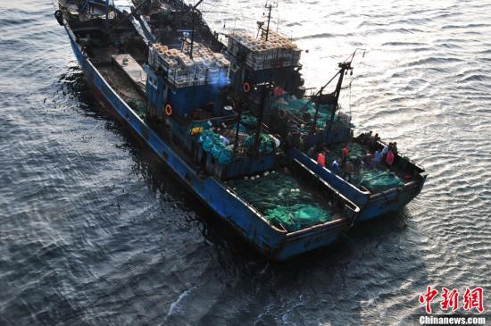 材料图:渔船。谈俊 摄