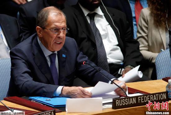 图为俄罗斯外交部长拉夫罗夫。