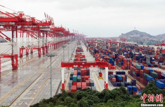 资料图:中国(上海)自由贸易试验区。新闻网发 汤彦俊 摄