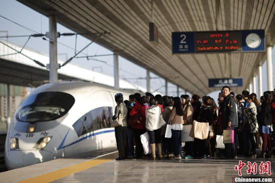 资料图 京津城际铁路武清站,这里到北京和天津市区分别仅需22分钟和12分钟。盛佳鹏 摄