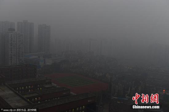 资料图:重庆雾霾天气。图片来源:CFP视觉中国
