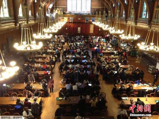 资料图:图为哈佛大学校园。