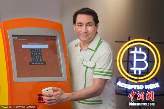 当地时间2014年1月14日,加拿大多伦多,多伦多第一台比特币ATM亮相。图片来源:CFP视觉中国