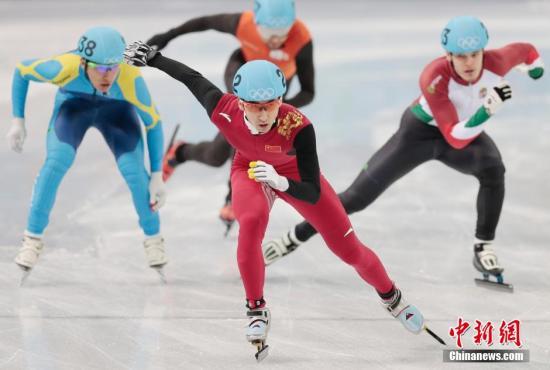 资料图:武大靖。<a target='_blank' href='http://www.chinanews.com/'>中新社</a>发 刘关关 摄
