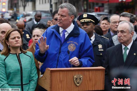 资料图:纽约市长白思豪。