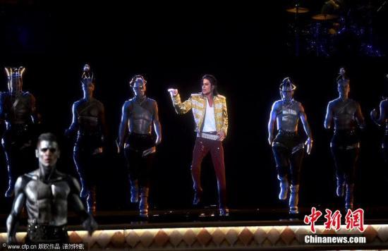 资料图片:迈克杰克逊的全息影像。图片来源:CFP视觉中国