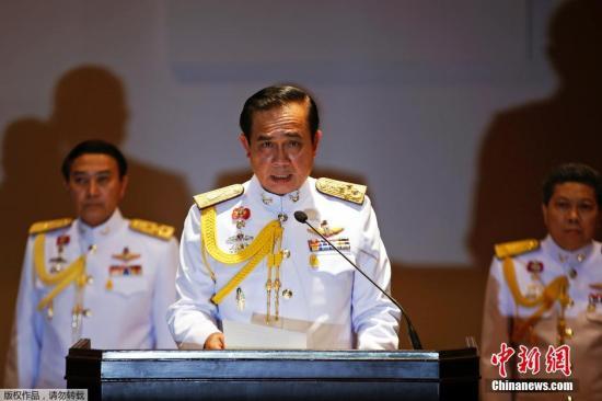材料图:泰国总理巴育。
