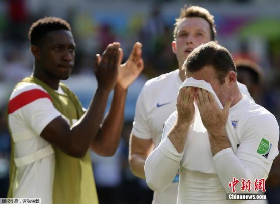 资料图:巴西世界杯,英格兰小组垫底被淘汰。