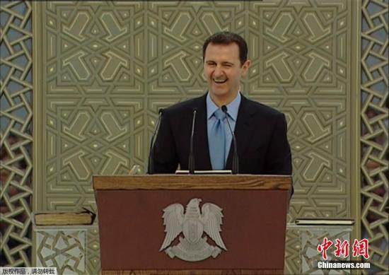 当地时间7月16日下午,巴沙尔・阿萨德宣誓就任叙利亚总统,开启第三个7年总统任期。