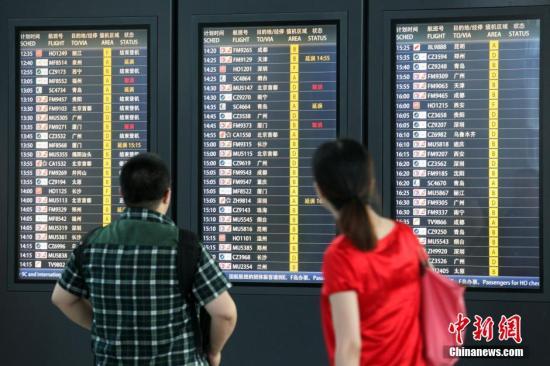 资料图:上海虹桥机场。中新社发 张亨伟 摄