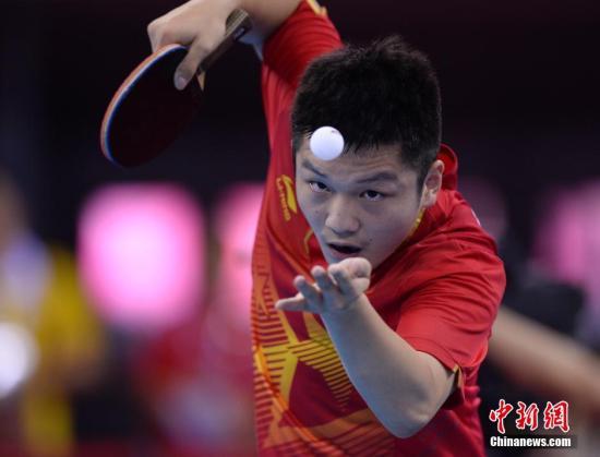 樊振东 资料图。<a target='_blank' href='http://www.chinanews.com/'>中新社</a>发 侯宇 摄
