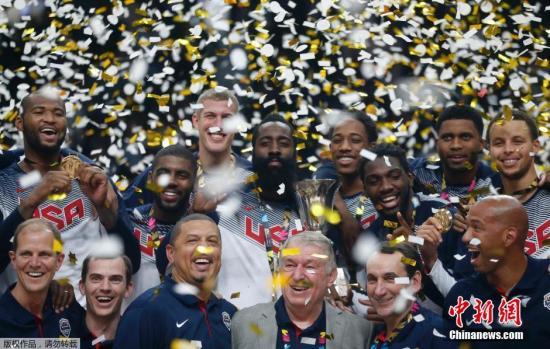 资料图:美国男篮。