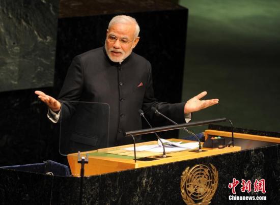 资料图:印度总理莫迪。中新社发 毛建军 摄