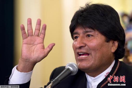 資料圖:玻利維亞總統莫拉萊斯。