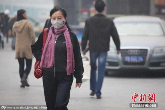 资料图:北京重度污染PM数值超过300。图片来源:CFP视觉中国