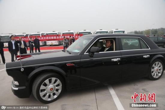国产红旗车。图片来源:CFP视觉中国