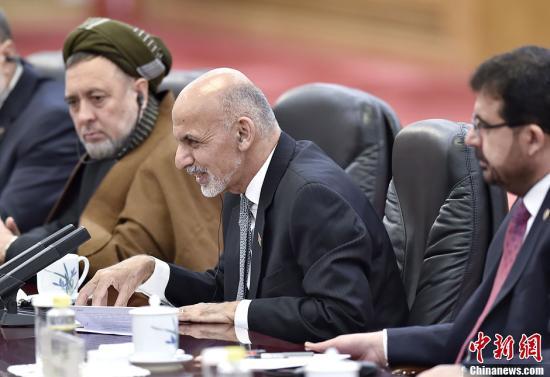 资料图:阿富汗总统阿什拉夫·加尼·艾哈迈德扎伊。发 刘震 摄