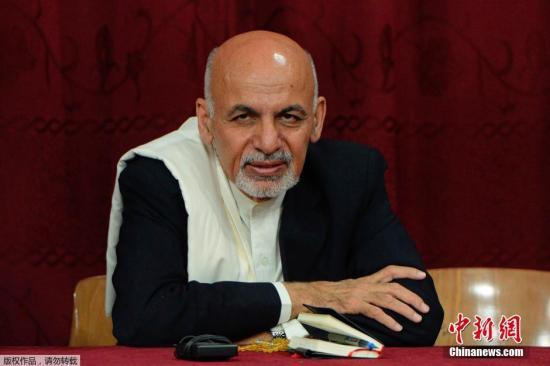 本地工夫9月30日,新被选的阿富汗总统哈僧访问本地的一所下中。