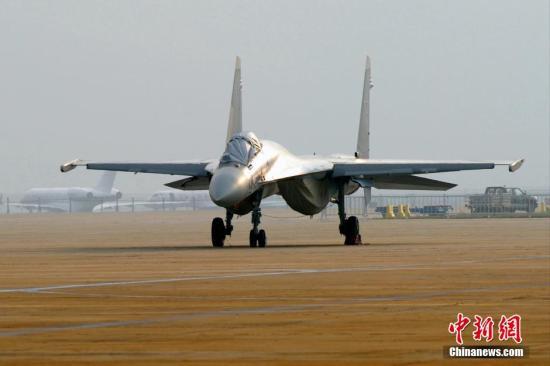 资料图:俄罗斯苏-35战机。<a target='_blank' href='http://www.chinanews.com/'>中新社</a>发 陈文 摄