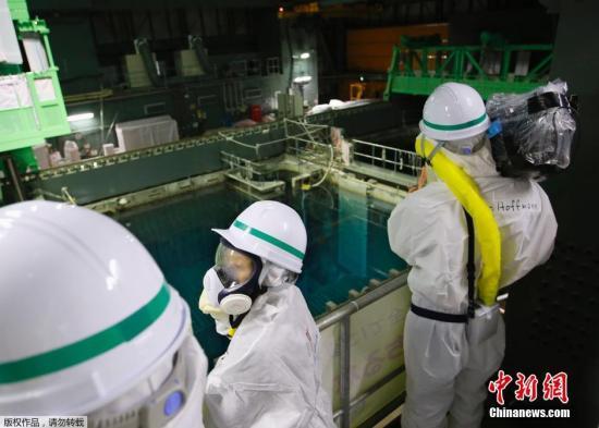 资料图:东电福岛第一核电站内部场景。
