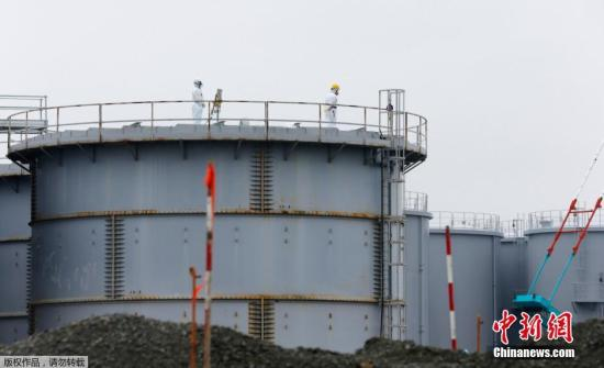 图为记者12日在东电福鸟第一核电站拍摄的现场情况。