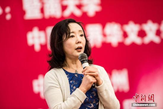 材料图:宽歌苓。 a target='_blank' href='http://www.chinanews.com/'种孤社/a收 陈骥 摄
