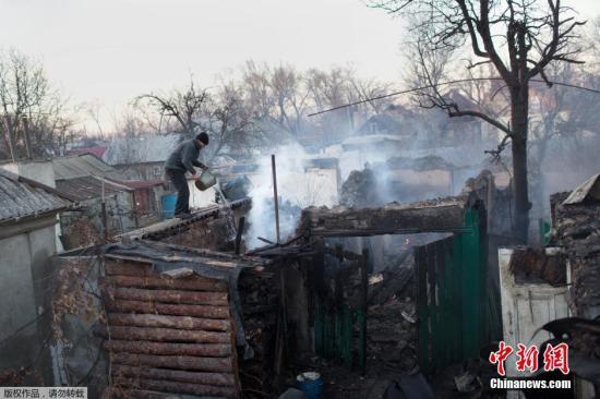 乌东部发生激烈交火 多人死亡数十房屋被炸毁