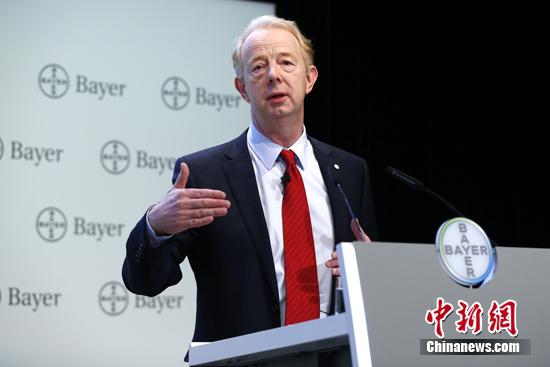 资料图:当地时间2014年12月2日,德国拜耳集团称,计划在未来着力聚焦生命科学业务领域的创新,包括医药保健业务和作物科学业务。 <a target='_blank' href='http://www.chinanews.com/'>中新社</a>发 富田 摄
