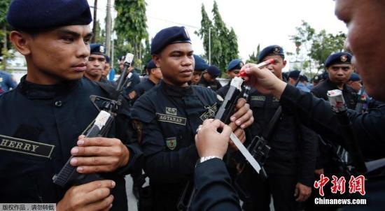 资料图片:菲律宾警队。
