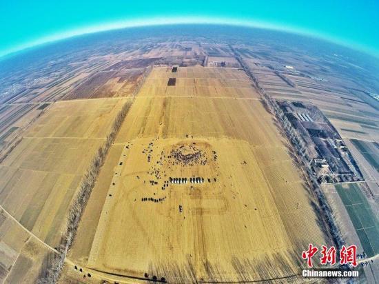资料图:北京新机场动工开建。 图片来源:CFP视觉中国