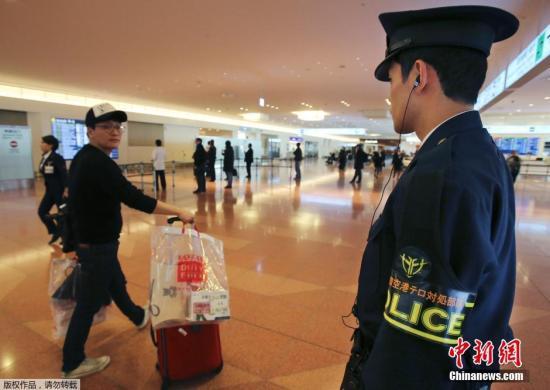 资料图片:日本羽田机场国际到达航站楼。